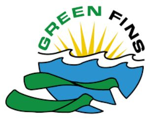 Logo Green fins for environmentally responsible diving and snorkeling