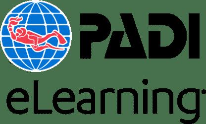 Logo PADI e-learning for PADI scuba diving courses